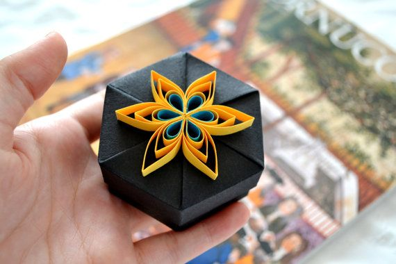 How To Make Paper Quilling Gift Box:  ? D I Y ,Design