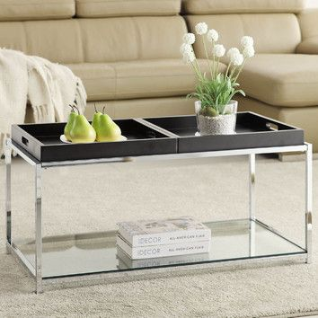 Convenience Concepts Palm Beach Coffee Table $125 At Wayfair (trays Come In  White, Birch