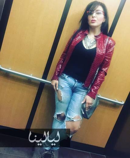صور فرح يوسف وتغير كامل في شكلها لن تستطيعوا التعرف عليها موقع ليالينا Leather Jacket Fashion Red Leather Jacket