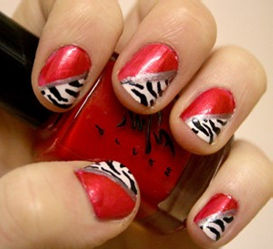 Cool Red Nail Designs | Nailed It!! | Pinterest | Zebra print nails ...