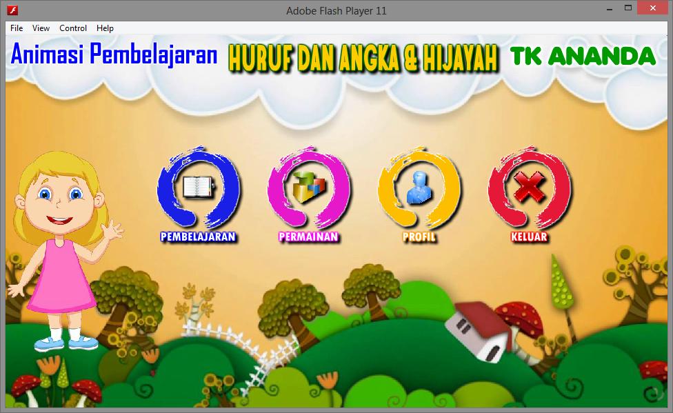 Contoh Animasi Pembelajaran Interaktif Huruf Dan Angka Untuk Anak Game Edukasi Belajar Multimedia