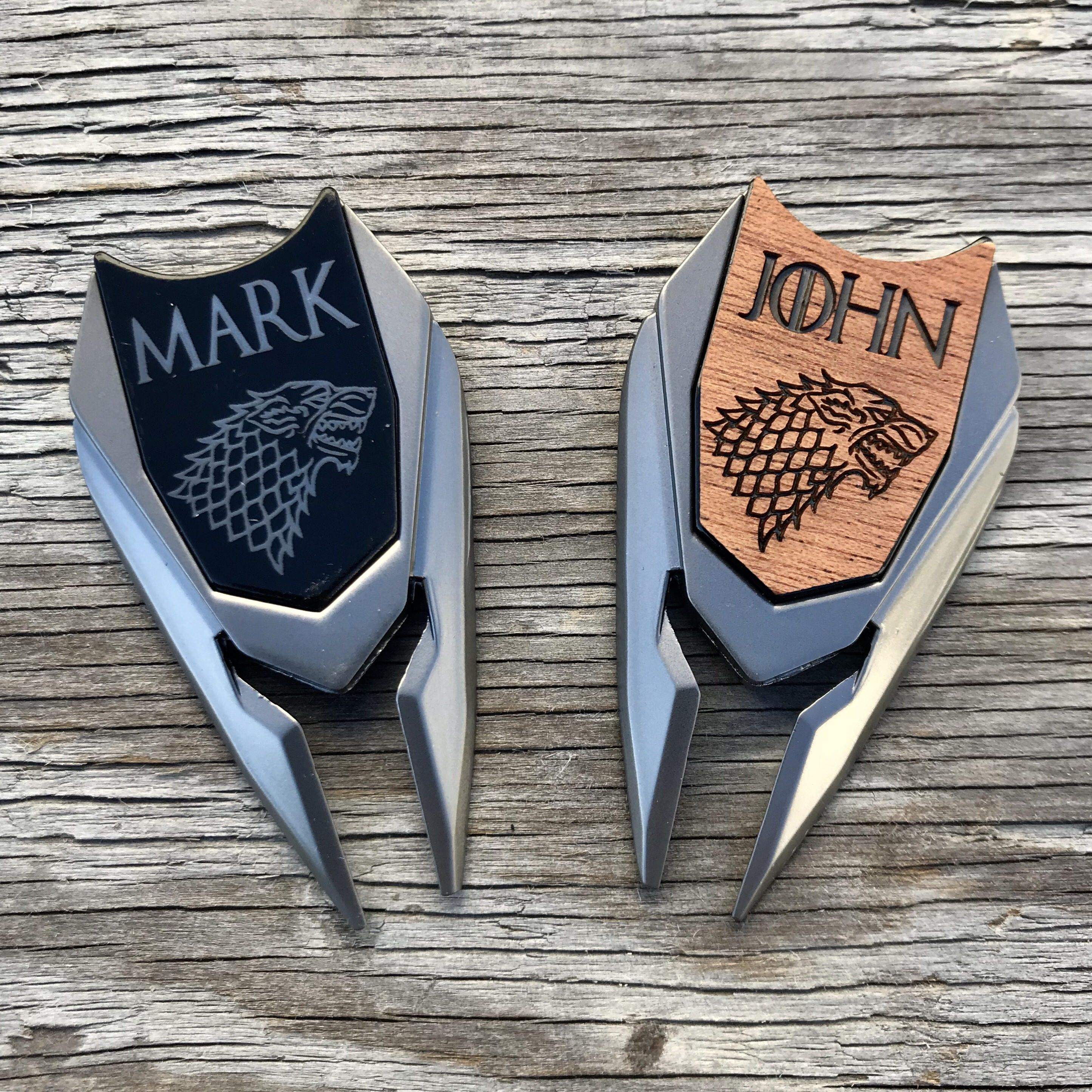 Game Of Thrones Peronalized Golf Ball Marker Divot Tool Divot Tool With Images Personalized Golf Ball Marker Golf Ball Gift Golf Gifts For Men