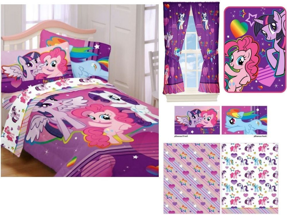 High Quality Kids Girls Hasbro My Little Pony Bedding Bed In A Bag / Comforter Set   3  Prints