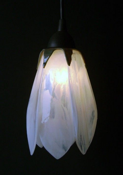 Gorgeous glass tulip pendant lights - $250   Traditional ...