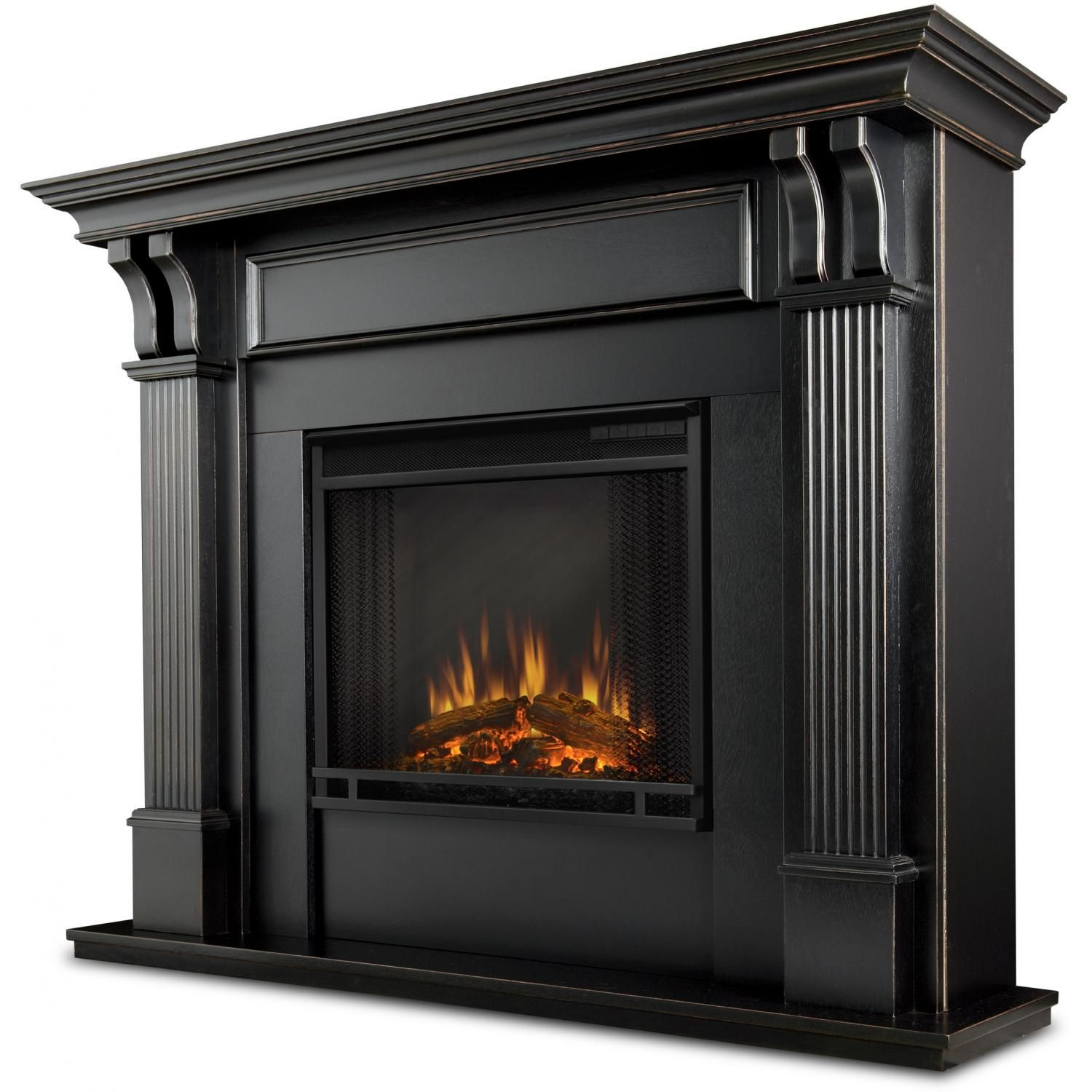 Real Flame 7100e Bw Ashley 48 Inch Electric Fireplace With Mantel