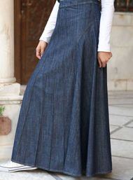 Love long jean skirts!