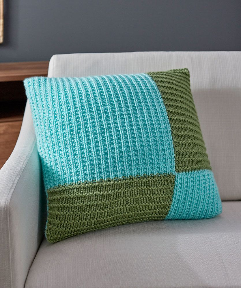 Free Knitting Pattern For A Modern Knit Pillow Modern