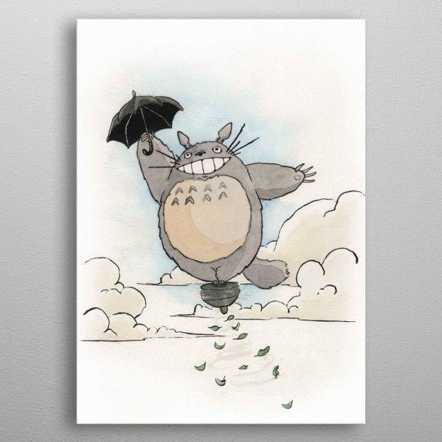 Totoro by Travis Bentley   metal posters - Displate   Displate thumbnail