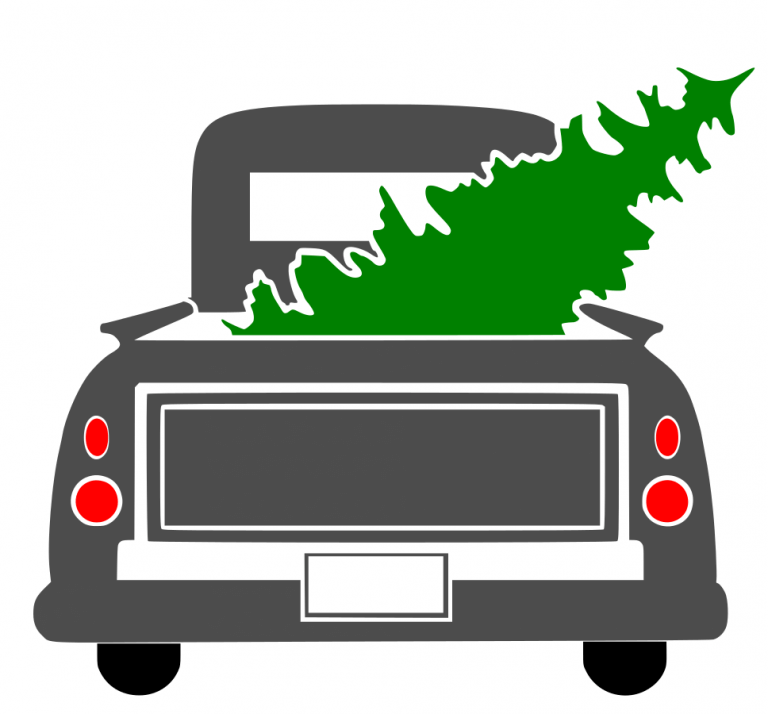 Free Christmas Truck SVG File