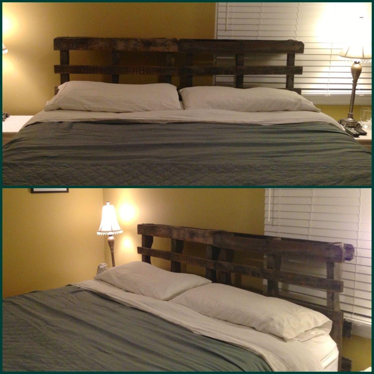 wooden pallet headboard home ideas pallet furniture pallet headboard designs. Black Bedroom Furniture Sets. Home Design Ideas