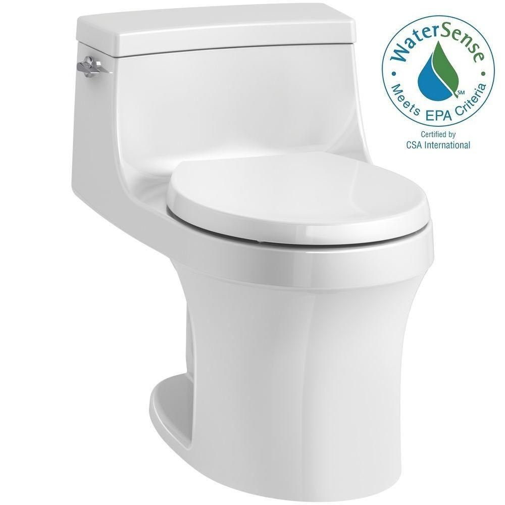 KOHLER San Souci 1-piece 1.28 GPF Single Flush Round Toilet in White ...
