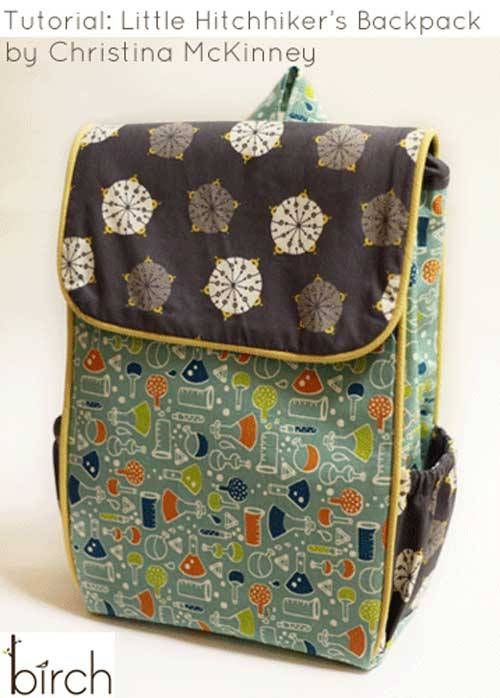 Little Hitchhiker\'s Backpack - Free Sewing Tutorial   Pinterest ...