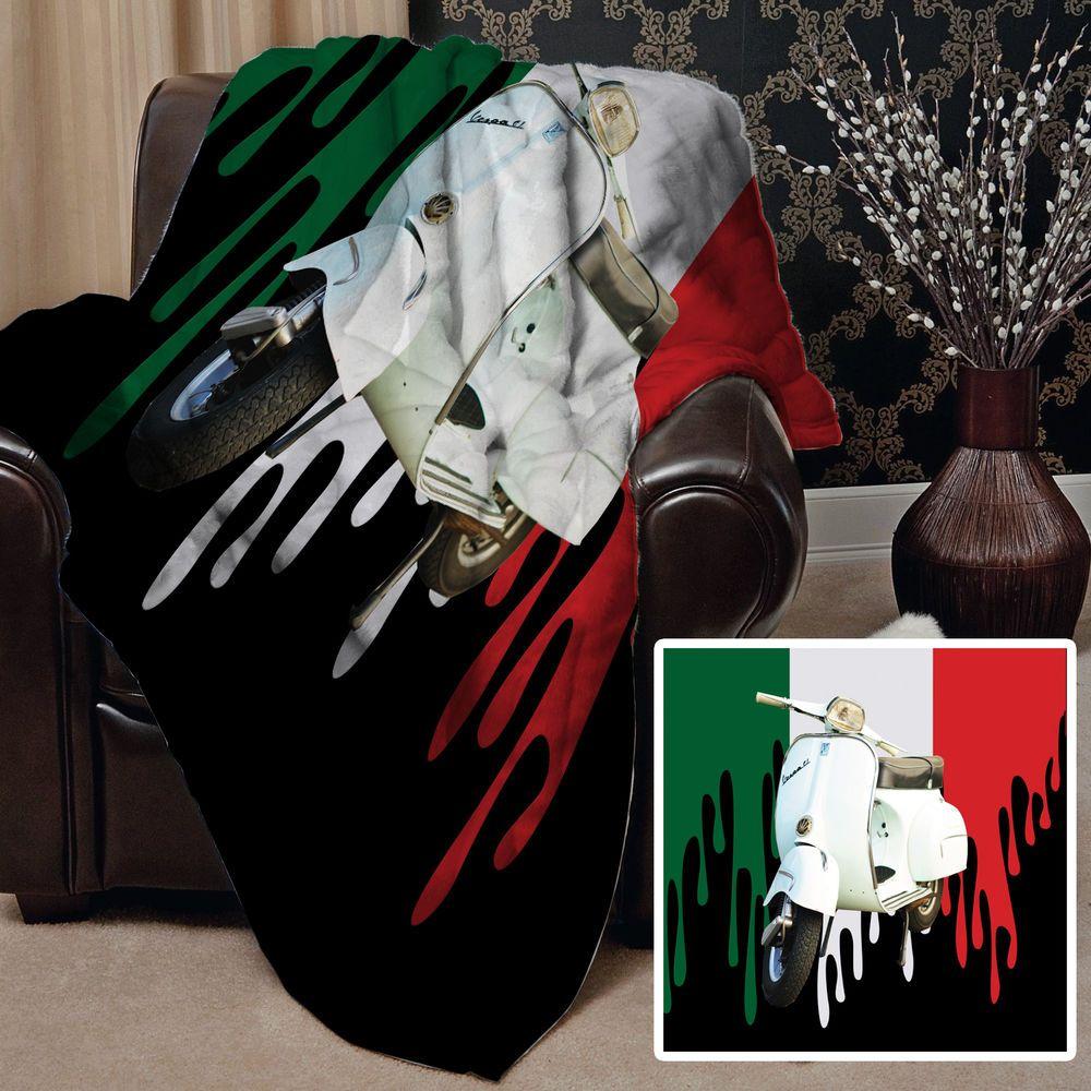 Farbe Tropfen Italienische Flagge Roller Design Vlies Weich Fleece
