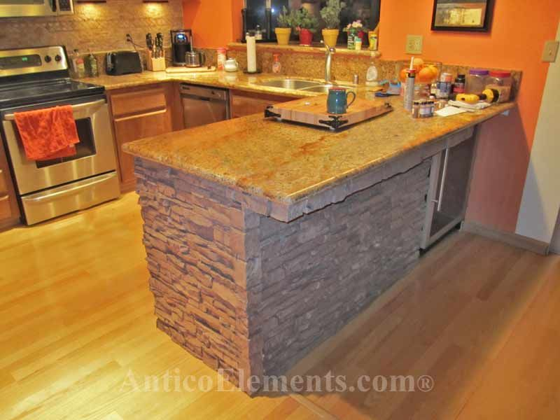 Great Idea For A Kitchen Faux Stone Panels Faux Stone