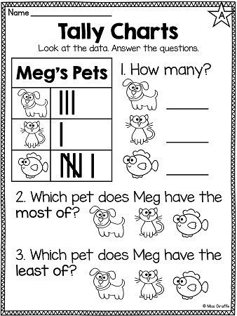 Tally charts practice worksheets - super fun math activities and ...