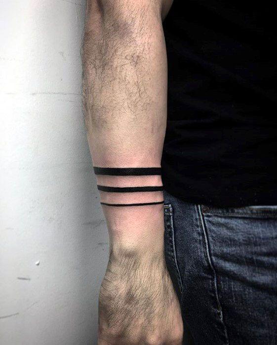 50 Forearm Band Tattoos For Men Masculine Design Ideas Tattoo