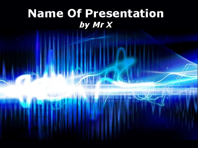 Electricity Abstract Design Powerpoint Template Presentaciones - it powerpoint template
