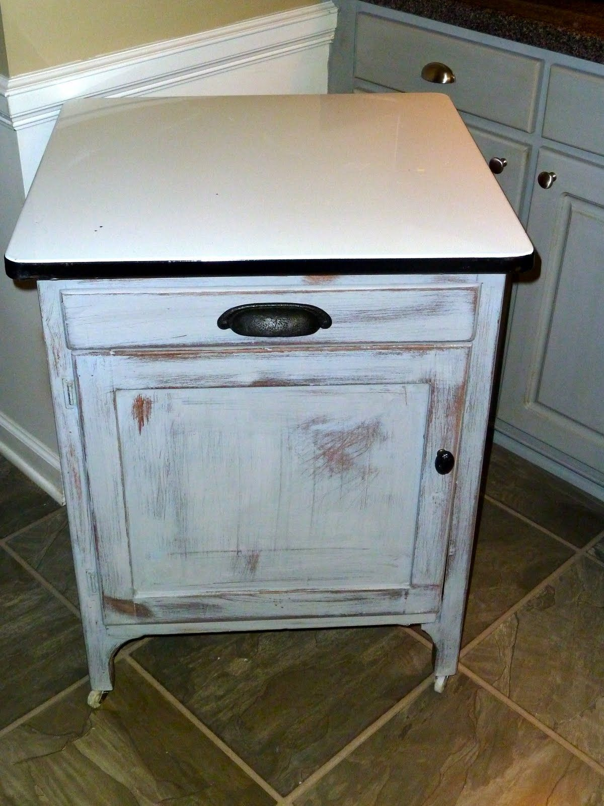 Painting Your Kitchen Cabinets Is No Small Undertaking: Annie Sloan Paris Grey Kitchen Cabinets Distressed