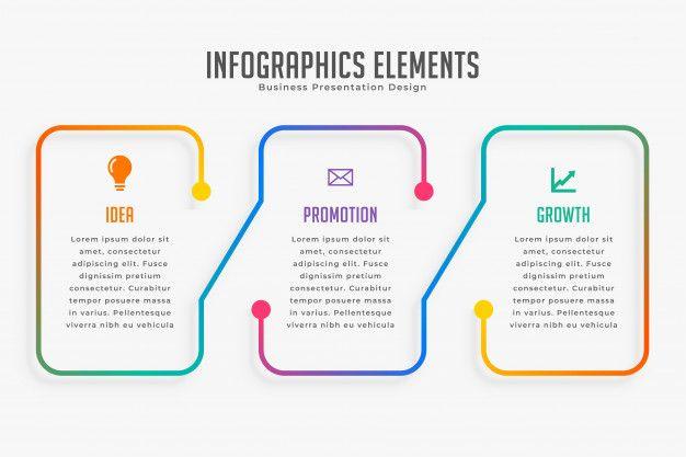 Plantilla de infografía moderna de tres   Premium Vector