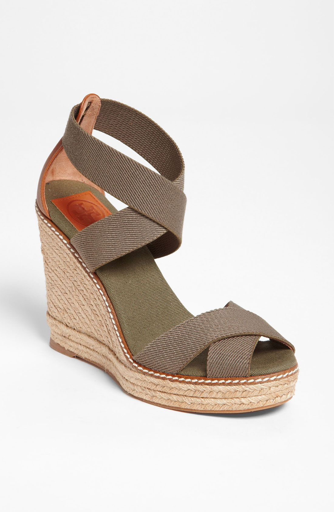 5ec622cabb Tory Burch Adonis Wedge Espadrille in Green (olive almond) | Lyst ...