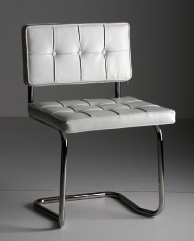 Bauhaus chair white dutch design made in holland for Witte moderne stoelen