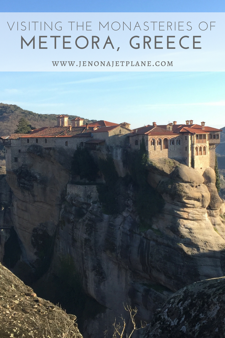 Everything you need to know to visit the monasteries of Meteora, Greece, a UNESCO World Heritage site! A real-life Game of Thrones location just 5 hours from Athens, Greece. Here's everything you need to know before your visit. #Greece #travel