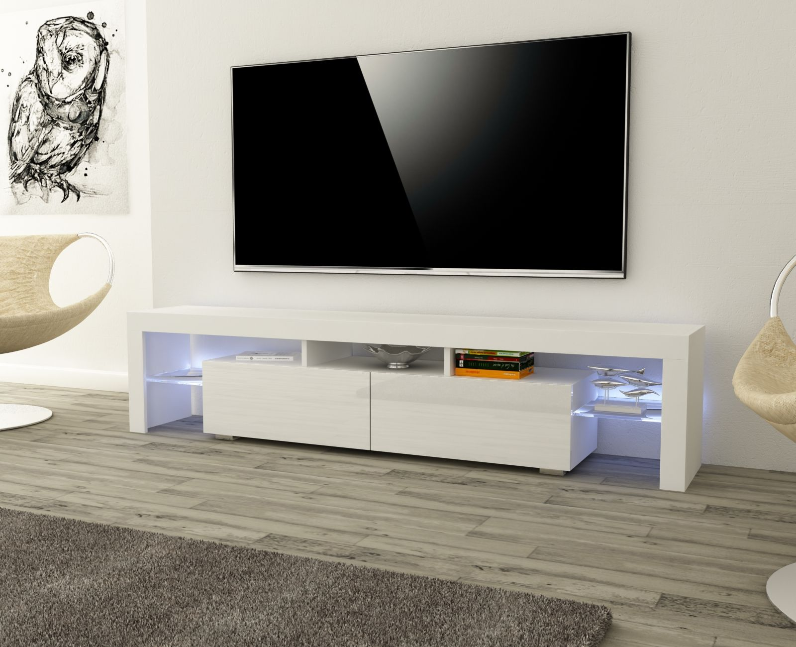 Modern Design Tv Stand From Our Chloe Collection Available In  # Meuble Tv Chloe Design