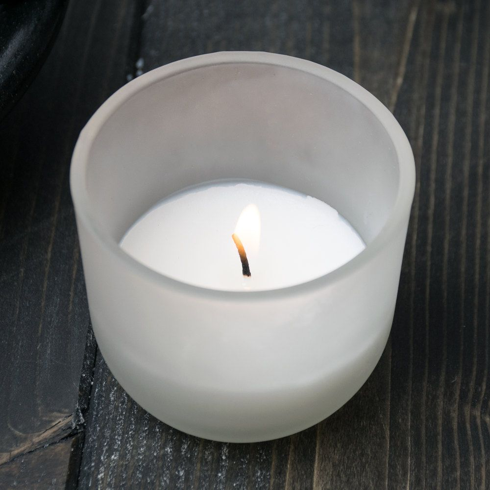 Sterno products frost glass votive candle petite lites