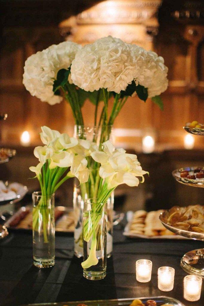 elegant sweet table composition florale haute compositions florale blanche et haute. Black Bedroom Furniture Sets. Home Design Ideas