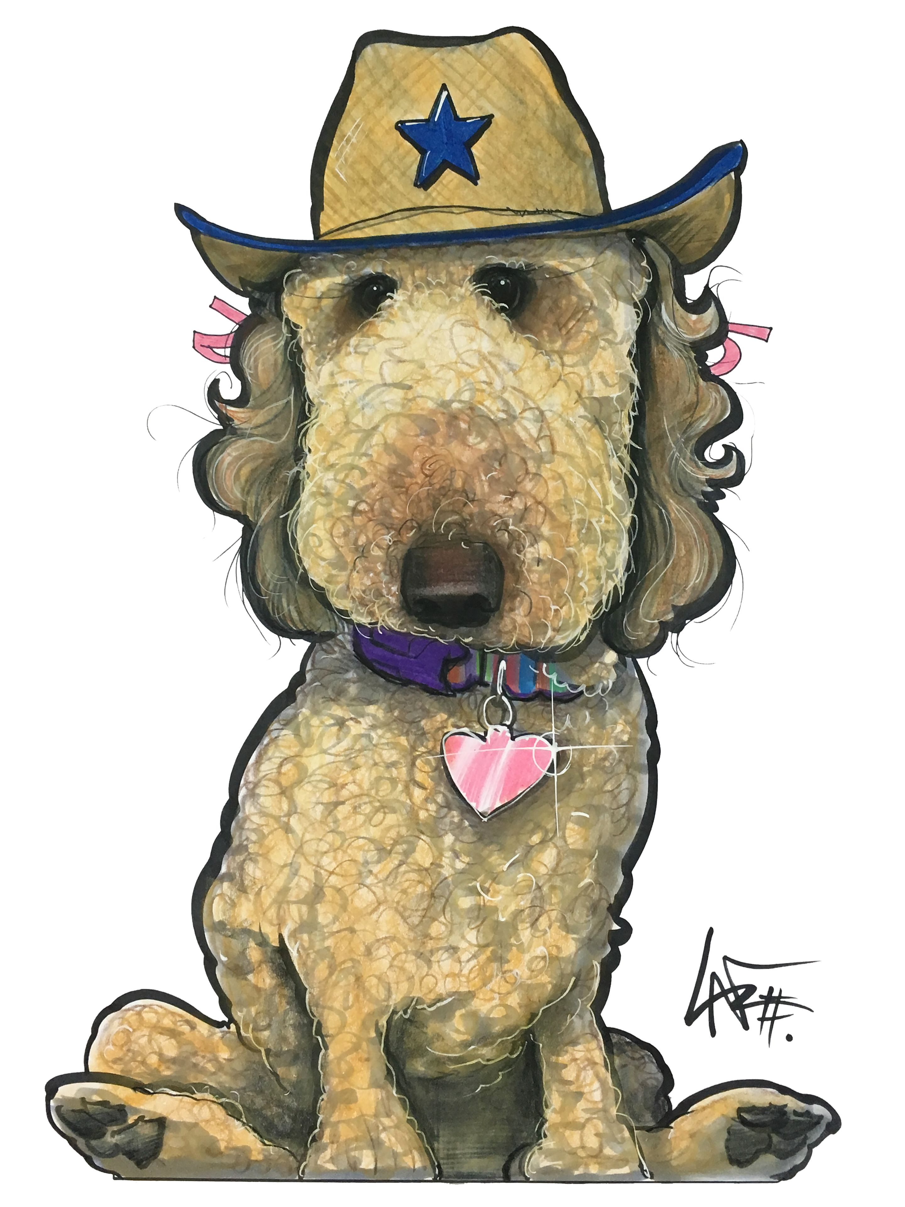 Dog Caricature Portrait Dog Caricature Animal Caricature Custom Pet Portraits