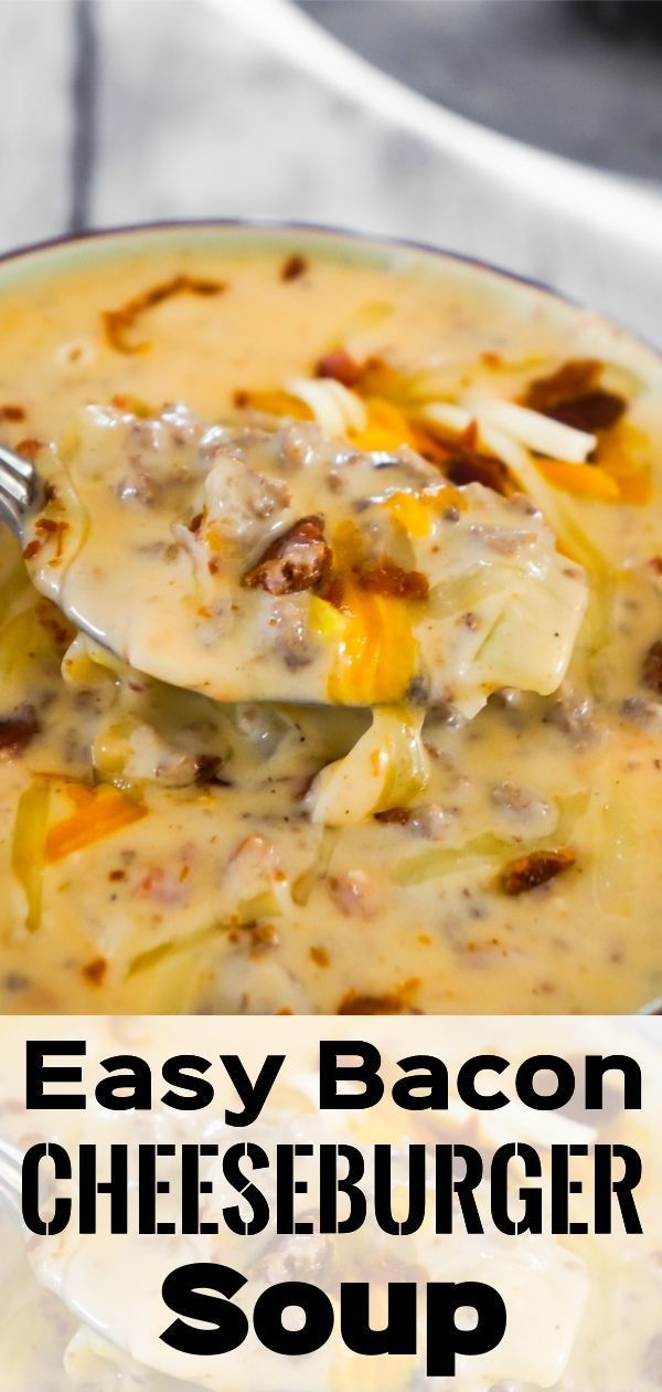Bacon Cheeseburger Soup - This is Not Diet Food - Theresia&HamburgerBEN