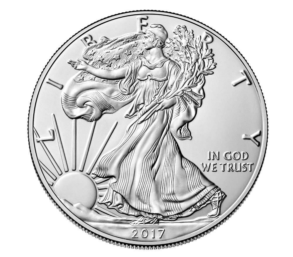 2017 W American Eagle One Oz Silver 1 Uncirculated Coin Us Mint Packaging Coa Silver Bullion Coins American Silver Eagle Eagle Coin