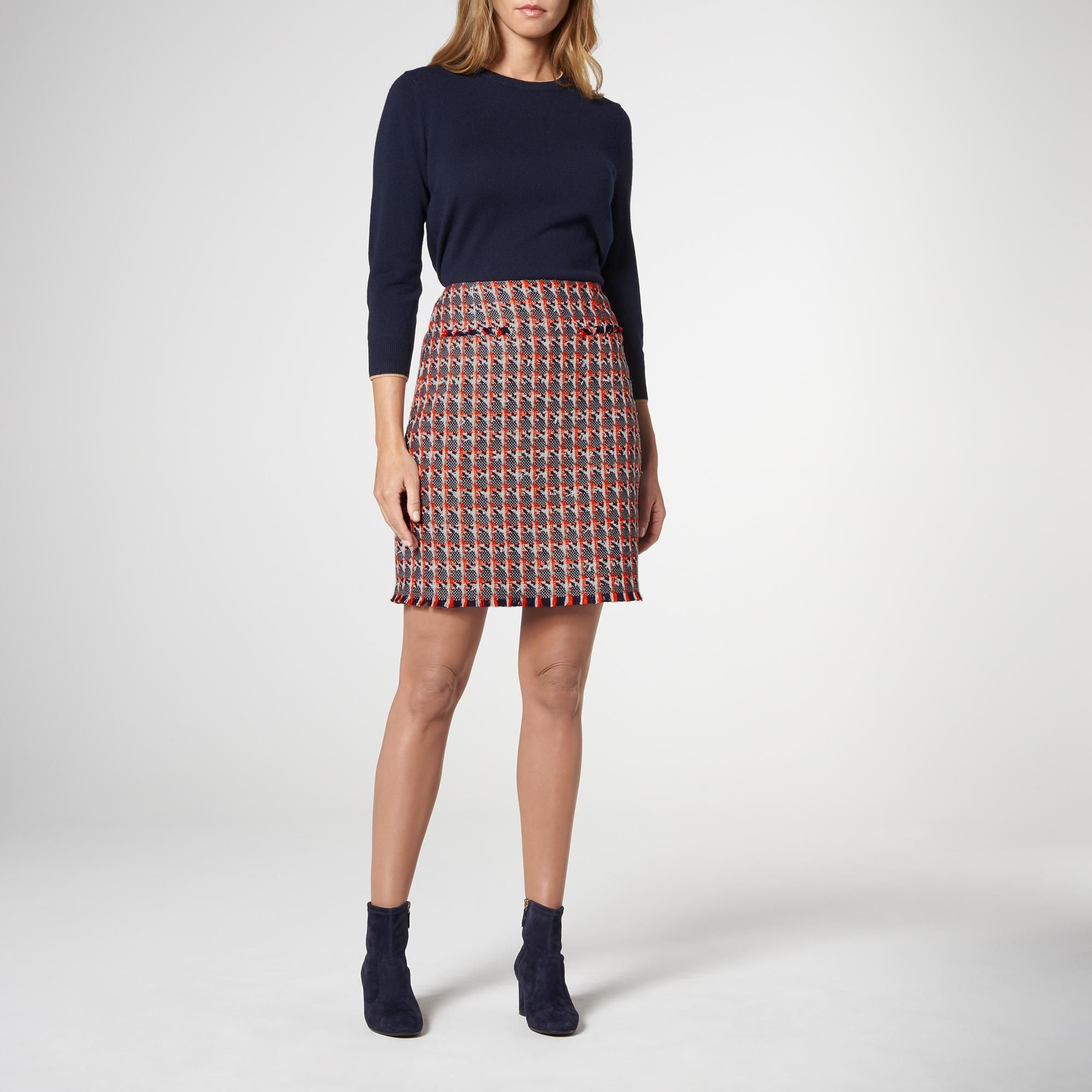 Danna Red Tweed Skirt | Clothing | New Arrivals