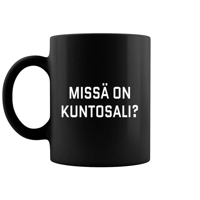 Where's The Gym Finnish Language Funny Travel Exercise Coffee Mug 11 & 15 Oz #nationalcoffeedayideas
