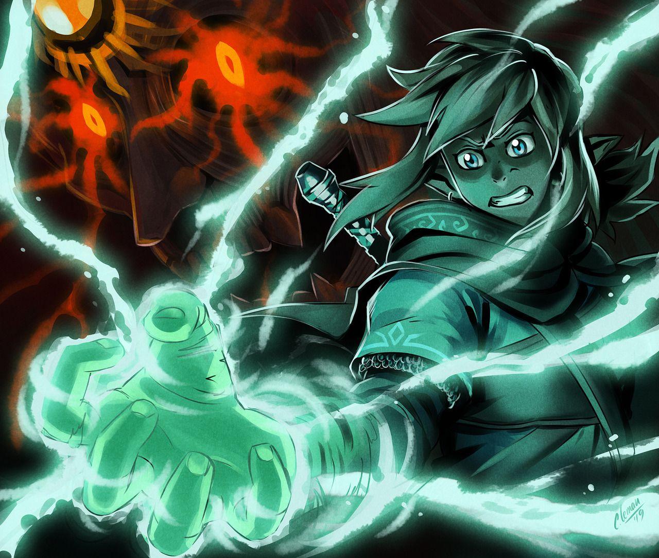 Legend Of Zelda Breath Of The Wild Sequel Art Link Vs Evil