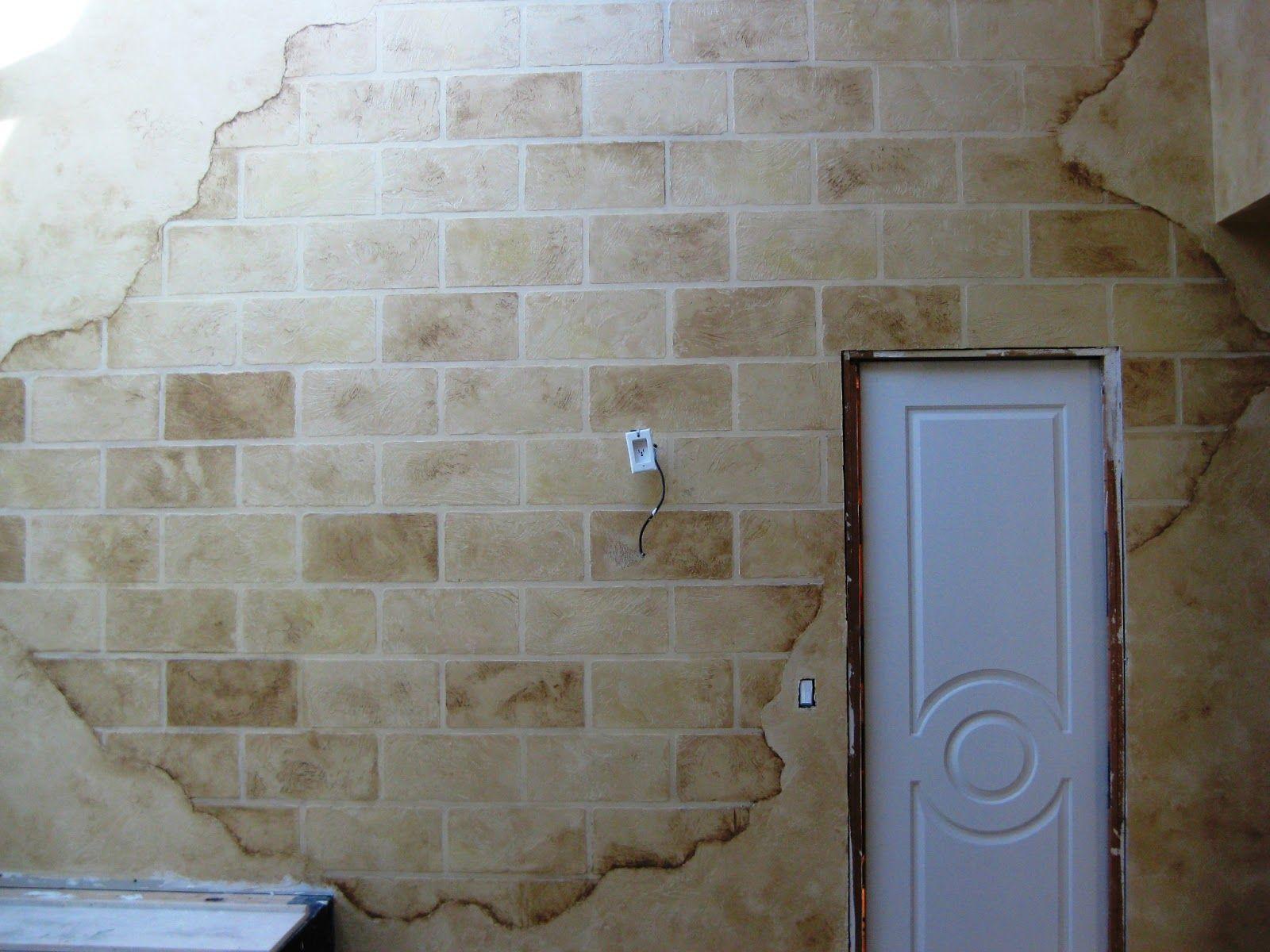 Concrete Block Interior Wall Distressed Faux