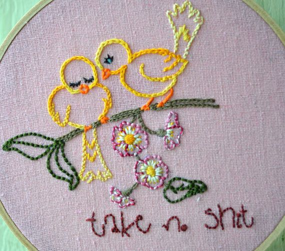 Vintage//POP Embroidery by Painted Bunting