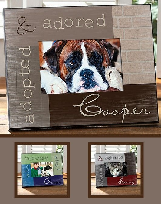 Adopted Pet Personalized Picture Frame We Love Pets Animals