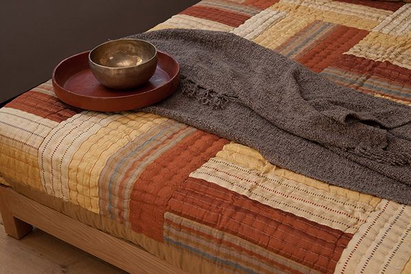 indian bedding - Sahara Indian patchwork bedspread. Gorgeous autumn colours and another warm layer for the bed!