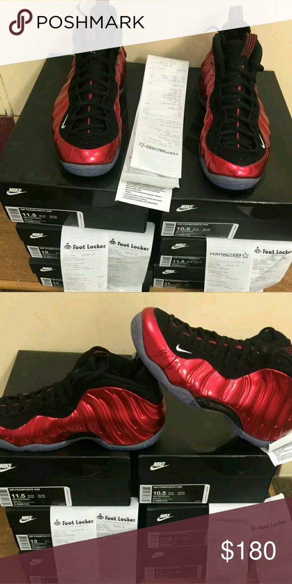 7d851d378a345c Foanposite Mettalic Red 2017 Brand new Brand New Receipt   Box Included  With All Deadstock Mens   Womens Sizes  Text With Sizing And Offers Nike  Shoes