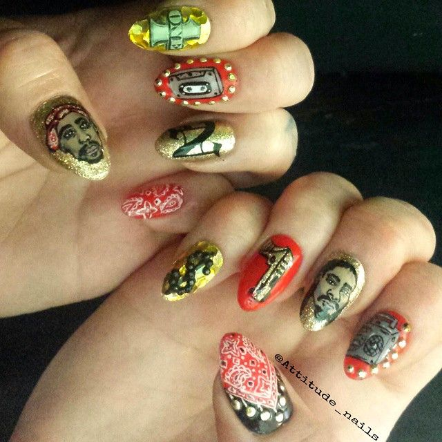 Tbt To Some Hiphop Ish Always The Backdrop To My Nailart Sesh