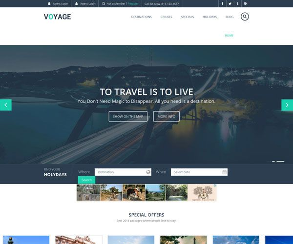 16 Free Travel Html Website Templates