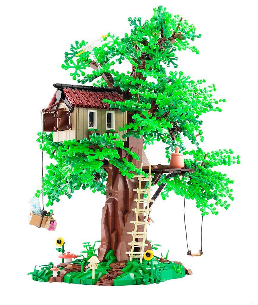 Moc Lego Beautiful Trees Lego Tree House Lego Tree Lego House