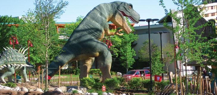 Dinosaur adventure mini putt golf course clifton hill