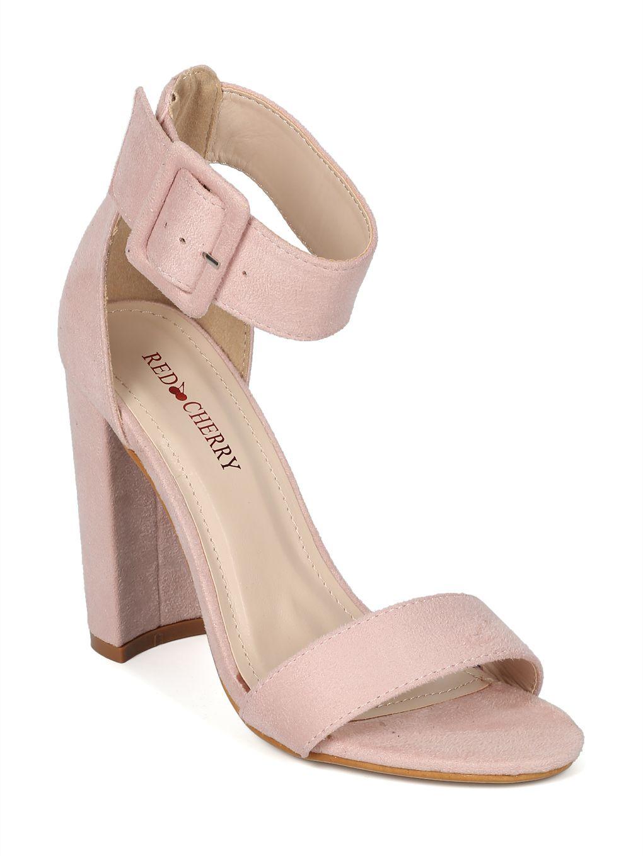 21fce6826940 Shoes Women Faux Suede Open Toe Block Heel Ankle Strap Sandal ...