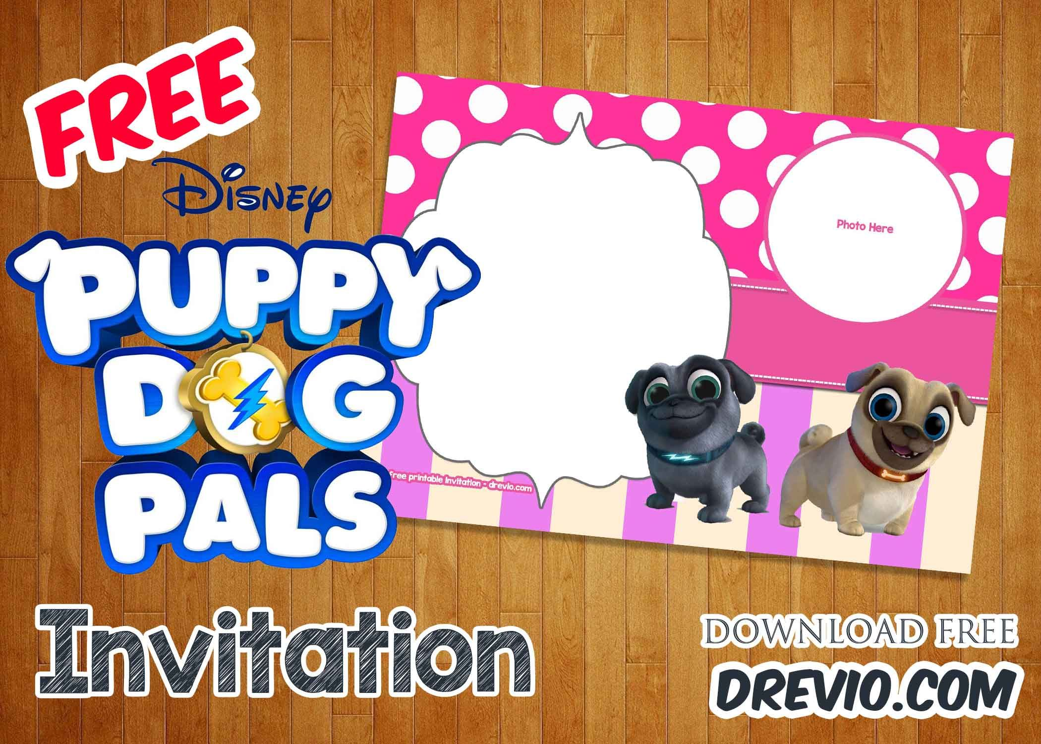 Free Disney Puppy Dog Pals Invitation Templates Drevio Free Printable Birthday Invitations Printable Birthday Invitations Free Invitation Templates