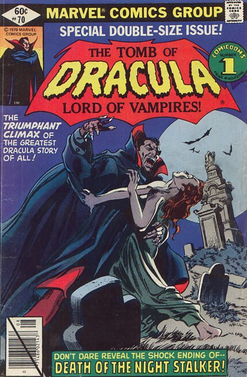 Tomb Of Dracula #70, August 1979, cover by Gene Colan
