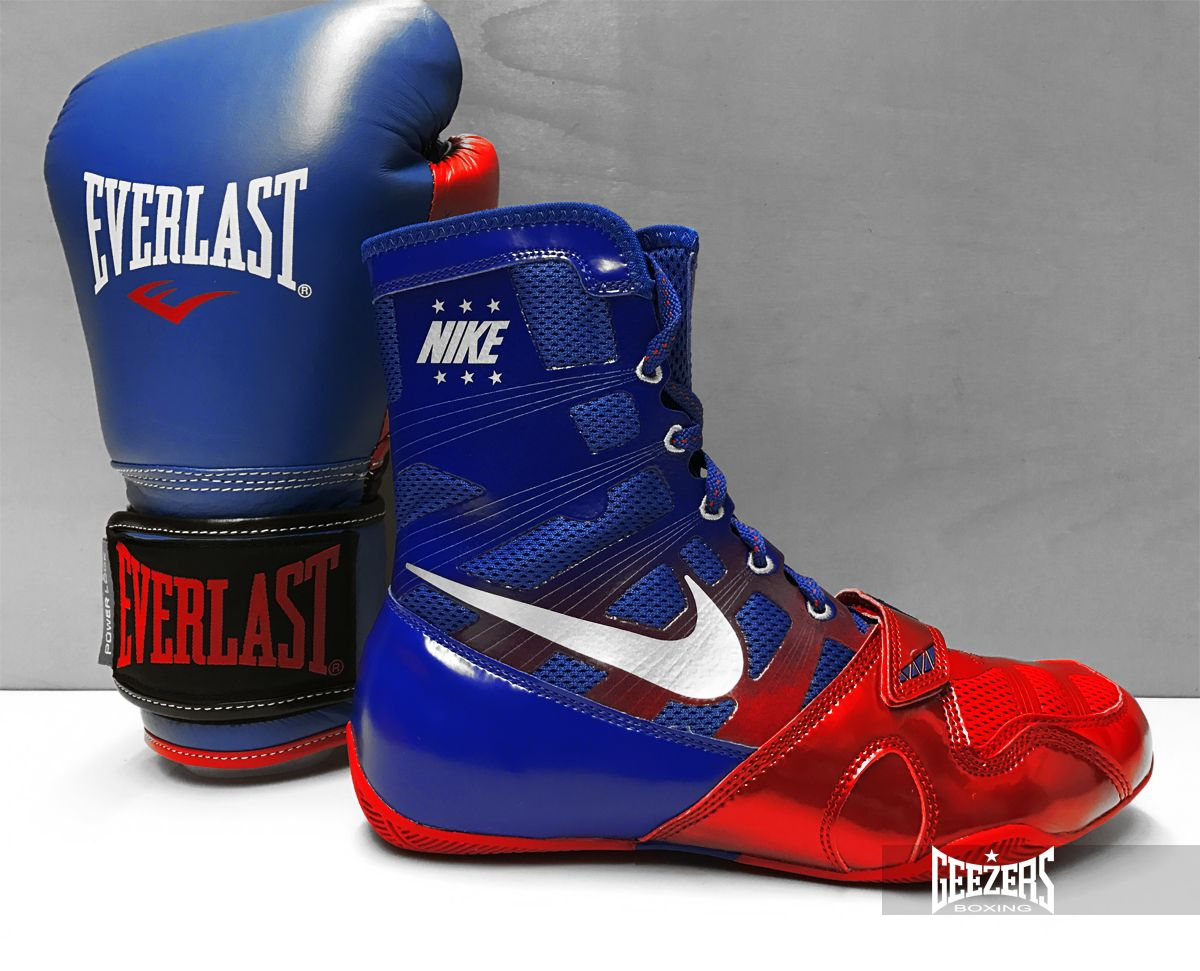 outlet online numerosi in varietà le più votate più recenti These Nike Hyper KO's look great with the blue/red Everlast ...