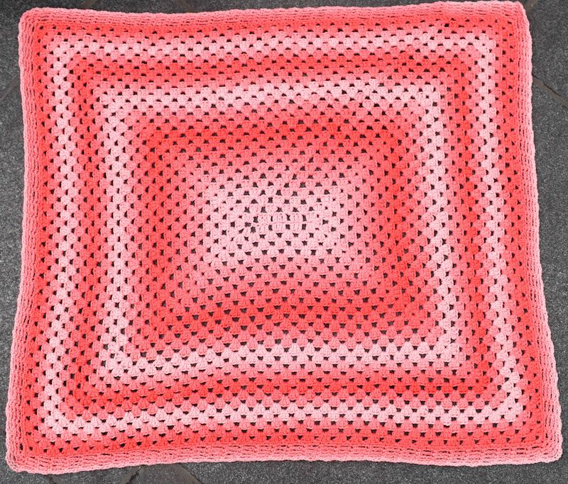 Simple Rectangular Granny Blanket, free crochet pattern in Red Heart ...