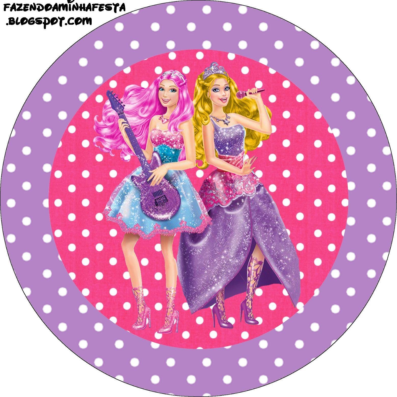 Imprimibles Barbie Princesa y Pop Star 2. | Ideas y material gratis para fiestas…